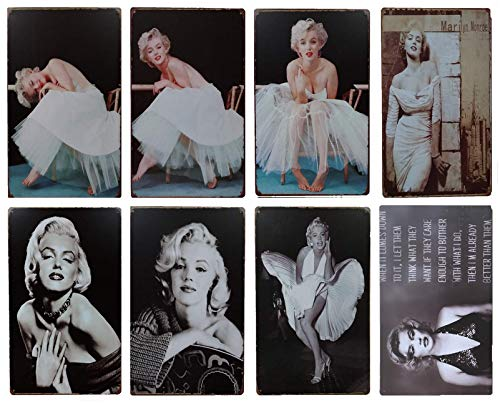 Marilyn Monroe Movie Charater Tin Sign 8pcs 30cm*20cm (7.87*11.81inch) -