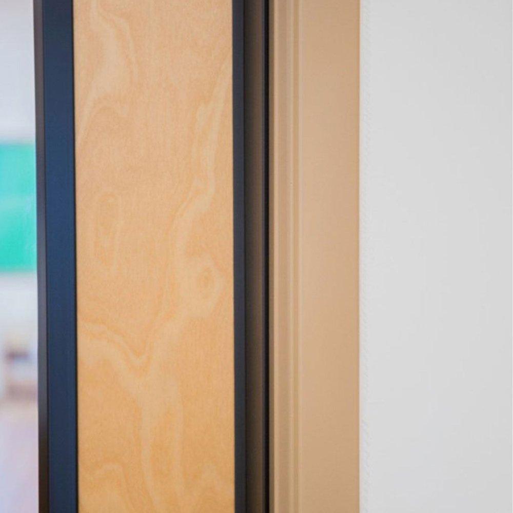 Complete Door Safety Shield Set | Finger Pinch Protector Guards for Door Hinges (96'', Brown) by Fingersafe USA (Image #5)