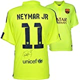 Neymar Santos Autographed Barcelona FC Alternate Green Jersey - Fanatics Authentic Certified - Autographed Soccer Jerseys