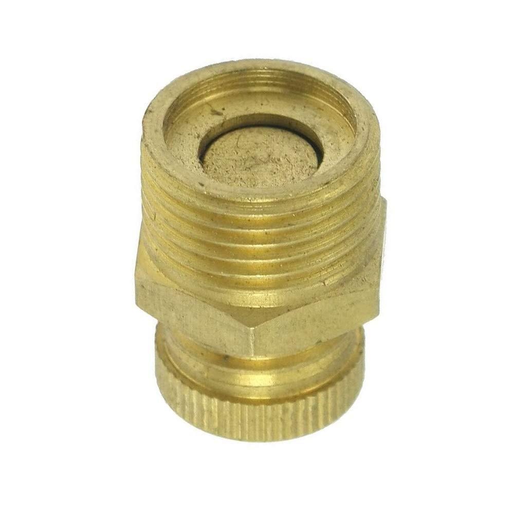 Ogquaton Compresor de aire de calidad superior PT 1//4 V/álvula de drenaje de agua con rosca macho tono de lat/ón