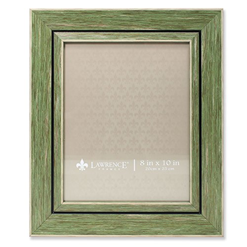 Weathered Green Picture Frame - Lawrence Frames Weathered Decorative Picture Frame, 8 by 10-Inch, Green
