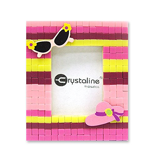 Crystaline Mosaic DIY Mini Table Top Picture Frame Kit - Vacation theme for small photo (1.5