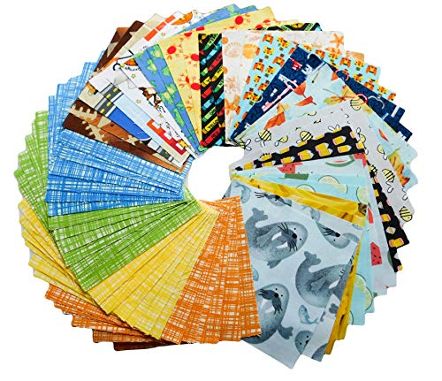 Baby Fabric - Baby Quilt Fabric - 100% Quilting Cotton - Charm Packs - Charm Packs for Quilting - Fabric Charm Packs - I Spy Fabric - Precut Fabric - Quilt Fabric - Quilt Kit - (PF64)