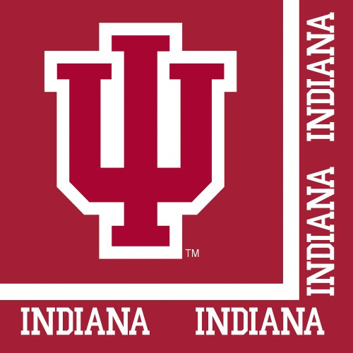 Creative Converting 20 Count Indiana University 2-Ply Lunch Napkins ()