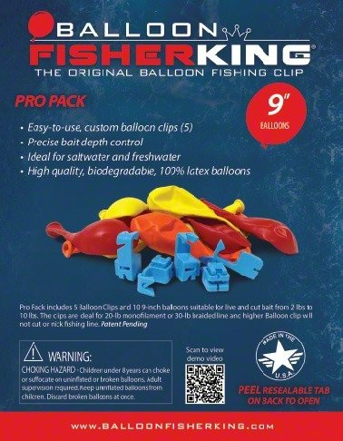 Balloon Fisher King 400 Multi-Clip Pro Pack ()