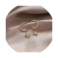 Mysterious Star and Moon Crystal Earrings