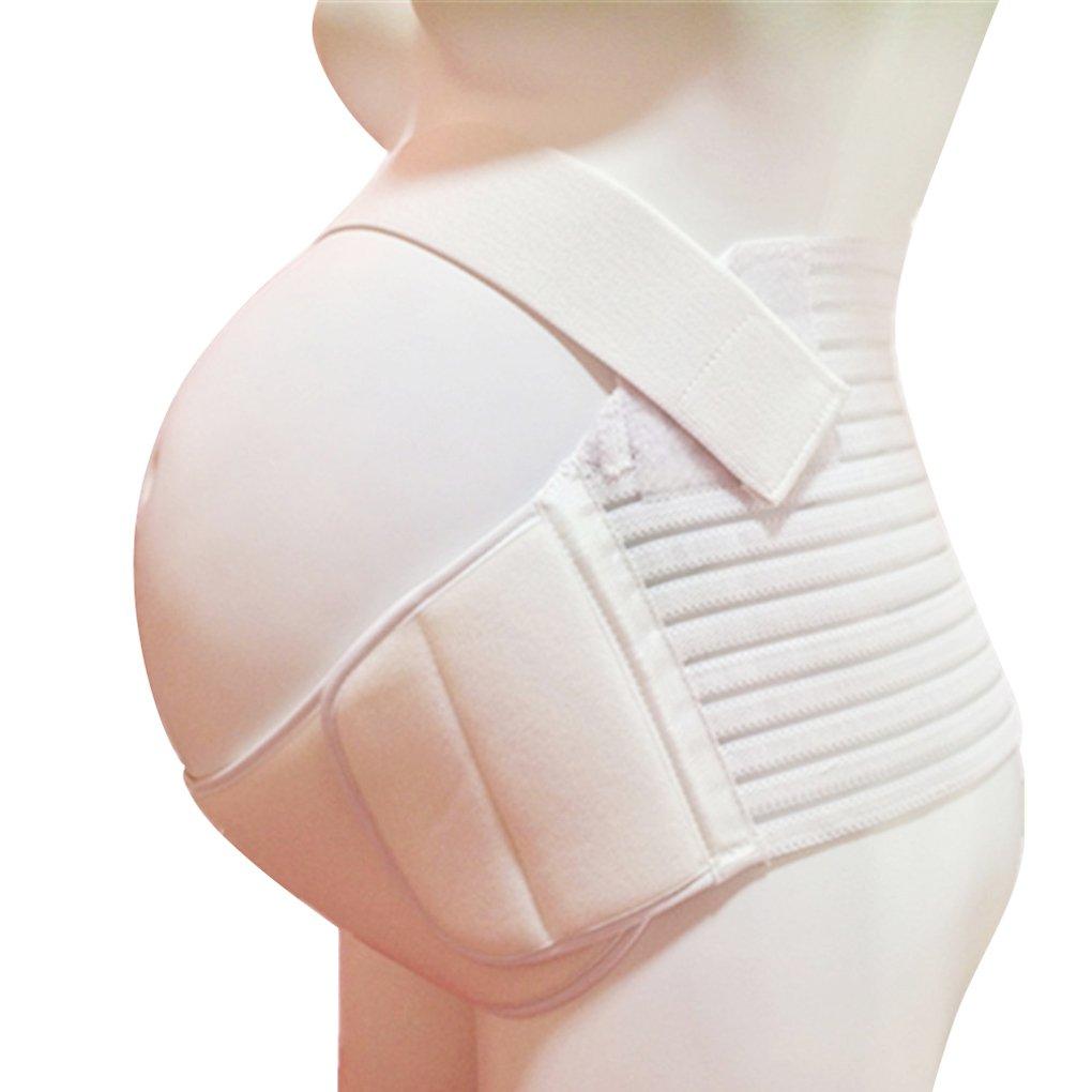Vogue of Eden Women's Maternity Pregnancy Support Belt / Brace - Back, Abdomen, Belly Band, Comfort White XXL