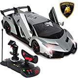 Best Choice Products 1/14 Scale RC Lamborghini Veneno Gravity Sensor Remote Control Car Silver