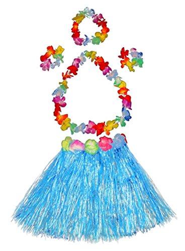 Girl's elastic Hawaiian hula dancer grass skirt with