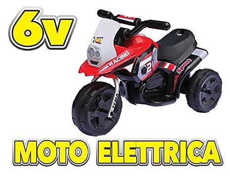 Elettrica Rosso 5228Amazon Moto itGiochi Giocattoli E 6v Gv dCeroxB