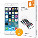 "UPPERCASE [ Real 3 Pack ] iPhone 6 Screen Protector With 3 Individual Pack, DuraGlass Premium Tempered Glass Screen Protector for iPhone 6 with 4.7"" Screen"