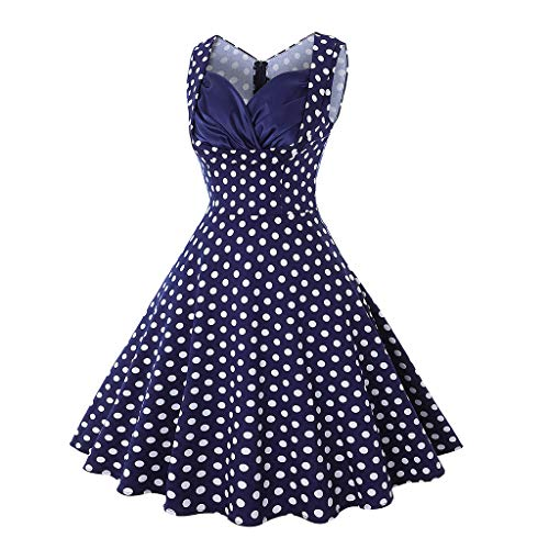 Sherostore ♡ Women's 1950S Retro Vintage Short Sleeve Cocktail Dresses Hollowed Front Dress Rockabilly Casual Party Dress