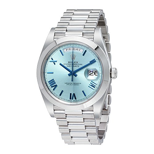 Rolex Day-Date Automatic Ice Blue Dial Platinum Mens Watch 228206IBLSRP