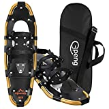 Gpeng Snowshoes for Men Women Youth Kids, Lightweight Aluminum Alloy All Terrain Snow Shoes with Adjustable Ratchet Bindings