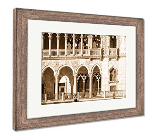The Venetian Resort Hotel Casino - Ashley Framed Prints The Venetian Resort Hotel Casino, Wall Art Home Decoration, Sepia, 30x35 (Frame Size), Rustic Barn Wood Frame, AG6425773