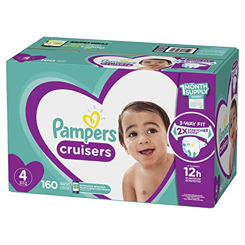 (Diapers Size 4, 160 Count - Pampers Cruisers Disposable Baby Diapers, ONE MONTH SUPPLY (Packaging May Vary))