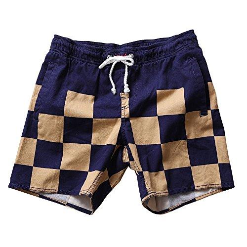 SAFS Women's Swim Trunks Short Shorts Checkered Design SAFS Navy 10