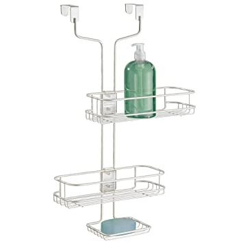 Image Unavailable. not available for. Color: mDesign Adjustable Bathroom Over Door Shower Caddy Amazon.com: for