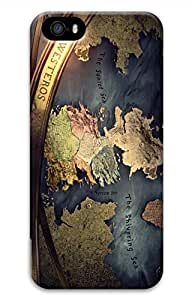 iPhone 5S Case, iPhone 5 Cover, iPhone 5S Westeros Map Hard Cases