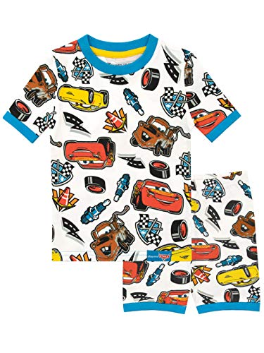 (Disney Boys Cars Pajamas White Size 5)