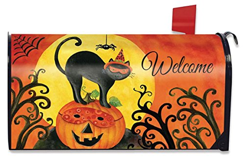 Briarwood Lane Black Cat Halloween Large Mailbox Cover Primitive Jack O'lantern Oversized by Briarwood Lane