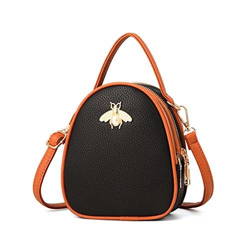 Bolso de hombro para mujer Bolso de cuero para bolso de verano (Color : Green) Brown