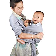 My miumiu Baby Straps Baby Wrap Carrier Baby carrier (Grey)