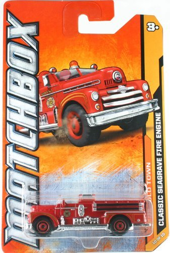 Matchbox 2012 MBX Old Town Classic Seagrave Fire Engine Truck (Seagrave Fire Engine)