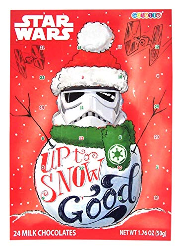 Star Wars Snowman Stormtrooper Milk Chocolate Candy Filled 2019 Christmas Advent Calendar, 13 3/4 Inch