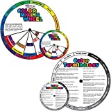 """US Art Supply Color Mixing Wheel Combo Pack - Contains 4"""" & 8"""" Mixing Wheel with Gray Scale Mixing Chart on Reverse Side"""