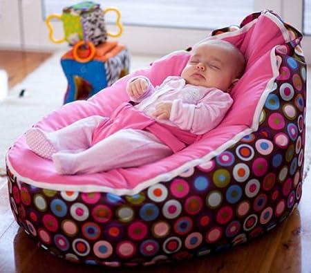 Puf para bebé - prerelleno con 2 fundas extraíbles y arnés ...