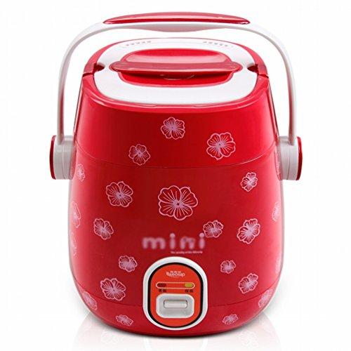 DHG Multi-Función Mini Arroz Cocina Pequeña 1-2 Persona Arrocera,Rojo