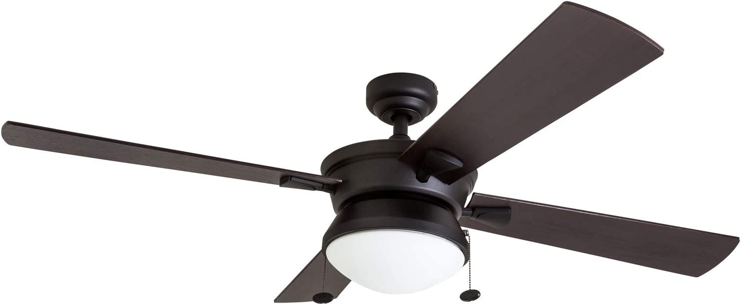 Outdoor Ceiling Fan, LED Frosted