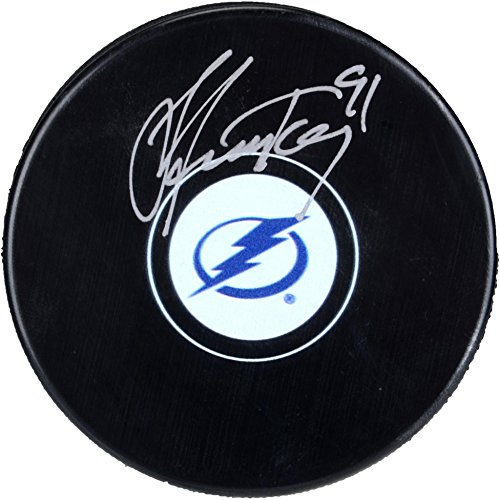- Steven Stamkos Tampa Bay Lightning Autographed Hockey Puck - Fanatics Authentic Certified - Autographed NHL Pucks
