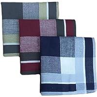 Abbraccia 12x Cotton Tissue Handkerchiefs - Plaid Pattern - Size 40x40 Cm - 100%