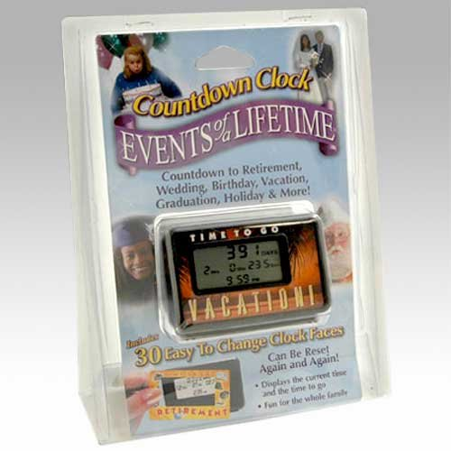 Countdown Clock - Events of a Lifetime - 30 Interchangeable Clock Faces Countdown International