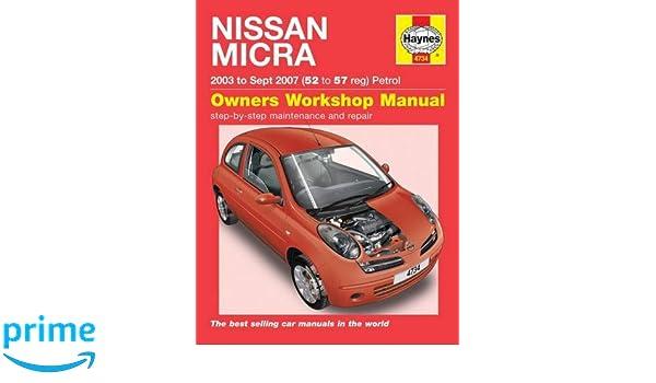 Nissan Micra: 03-10: Amazon.es: Haynes Publishing: Libros en idiomas extranjeros