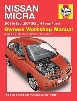 nissan micra 03 oct 10 haynes repair manual amazon co uk anon rh amazon co uk 06 Nissan Altima Repair Manual Nissan Pathfinder Repair Manual