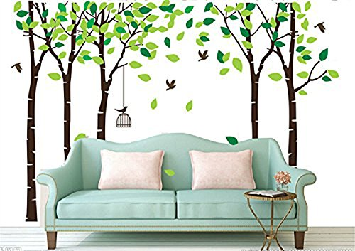 CaseFan-5-Trees-Wall-Stickers-Forest-Mural-Paper-for-Bedroom-Kid-Baby-Nursery-Vinyl-Removable-DIY-Decals-1039x709Green