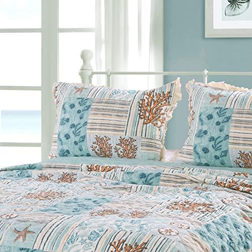 Greenland Home Key West Pillow Sham, King, Seafoam