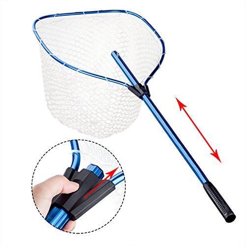 Fishing landing net aluminium alloy telescoping handle for Telescoping fishing net