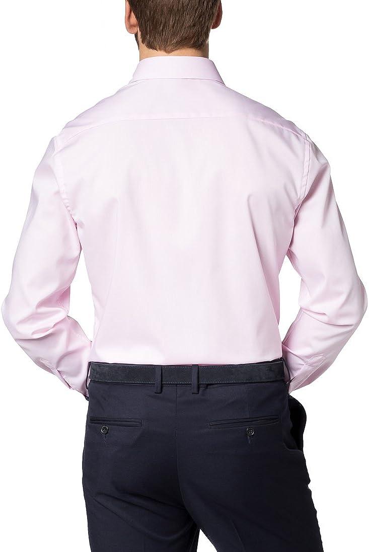 Eterna Long Sleeve Shirt Modern FIT Pinpoint uni Pink