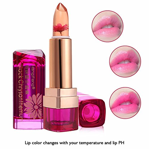 Lipstick LuckyFine Daisy Essence Jelly Lip Gloss Lipstick NonstickTemperature Change Moist Lip Balm 01Lemon