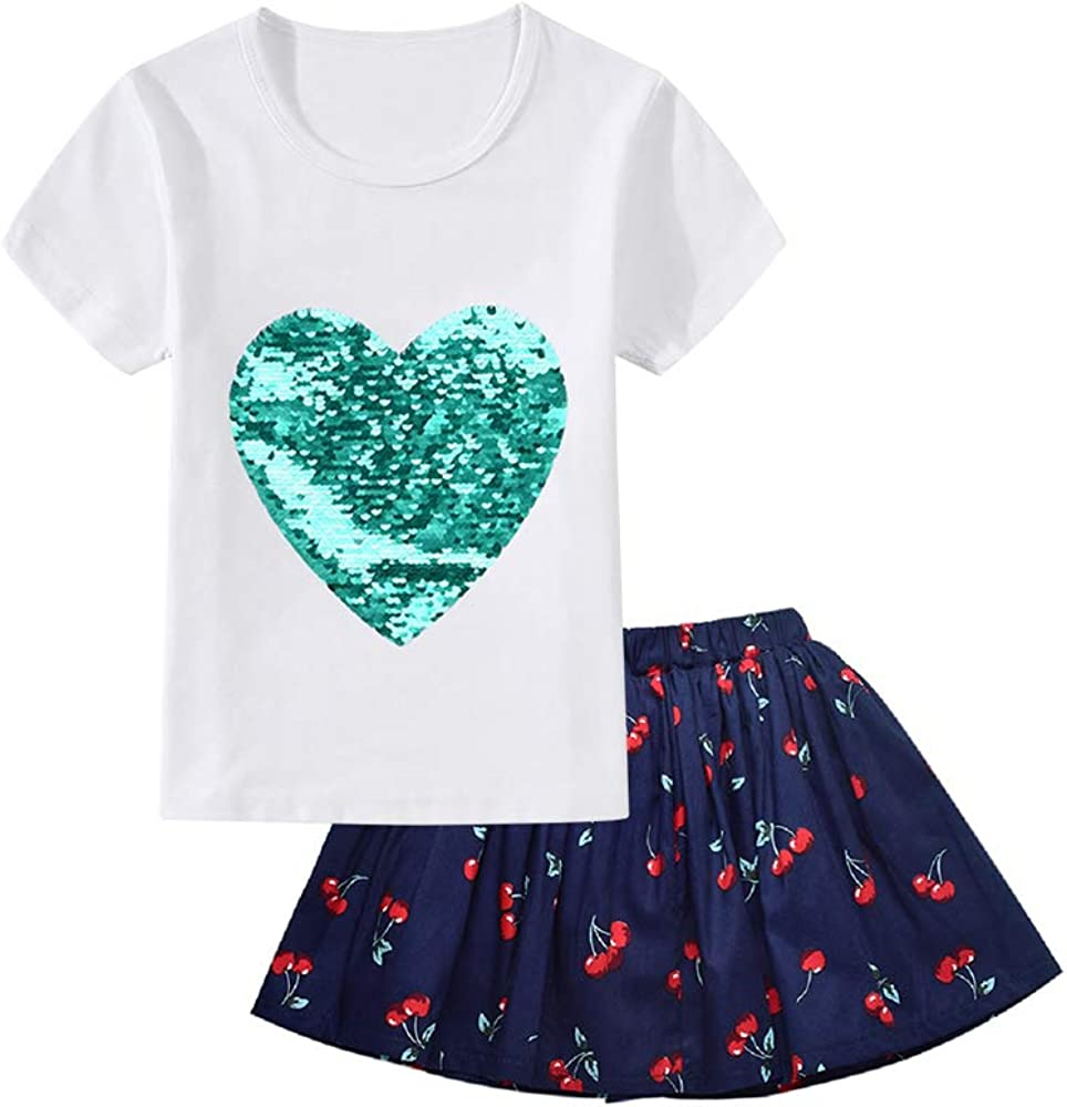 Summer Baby Girls Clothes Short Set Little Girl Outfit Set /& Tutu Skirt Set 2Pieces Infant Outfit Set