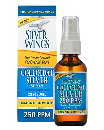 Natural Path Silver Wings Colloidal Silver Mineral Supplement, 250 Ppm, 2 Fluid Ounce