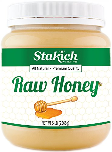 (Stakich RAW HONEY - 100% Pure, Unprocessed, Unheated, KOSHER (80)