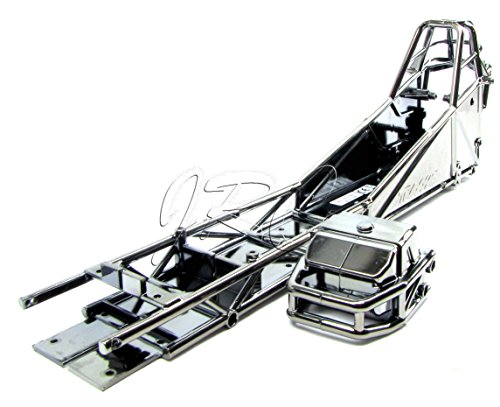 Funny Car CHASSIS/BUMPER, black chrome (6935 6922) 6907 Traxxas - Funny Car Chassis