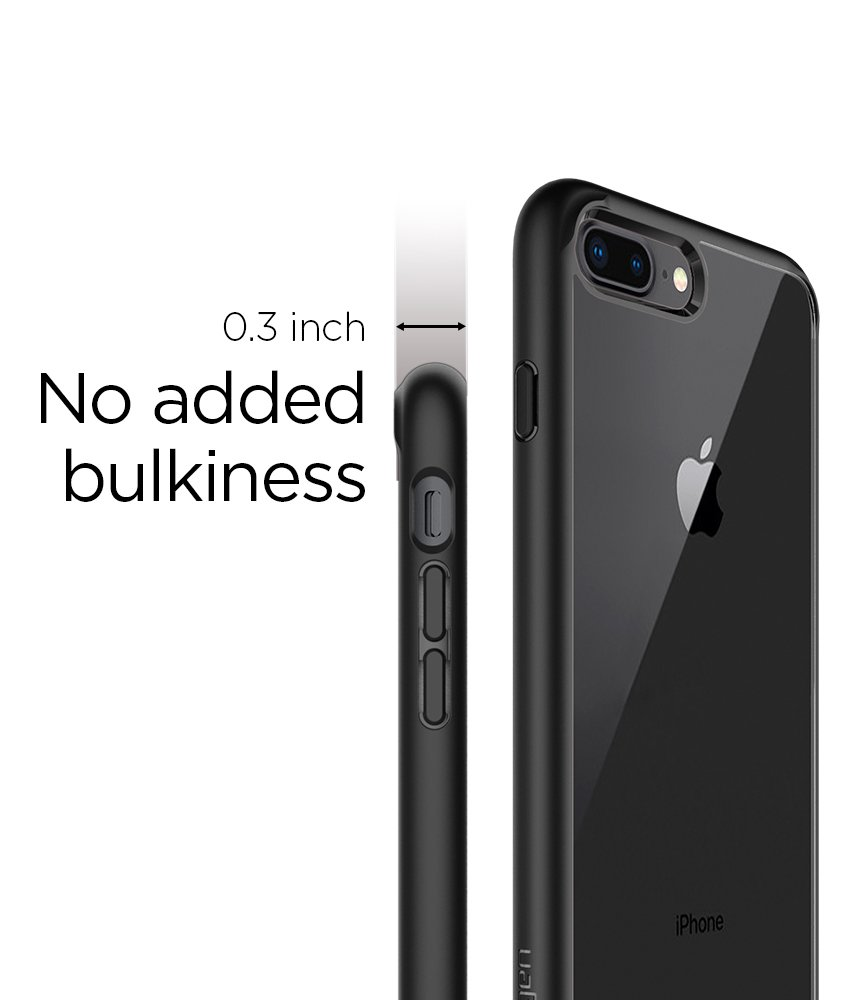 Spigen Ultra Hybrid [2nd Generation] iPhone 7 Plus Case/iPhone 8 Plus Case with Clear Backing and Air Cushion Technology for iPhone 7 Plus (2016)/iPhone 8 Plus (2017) - Black by Spigen (Image #5)