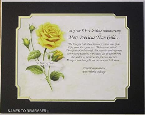 Amazoncom 50th Golden Anniversary More Precious Than Gold