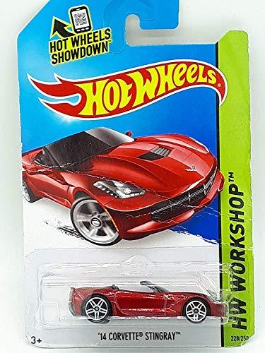 (2014 Hot Wheels Hw Workshop: '14 Corvette Stingray Convertible - Red)
